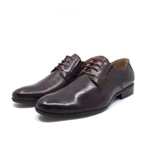 Pantofi barbati  eleganti barbati Derby  Leofex- 690 red wood