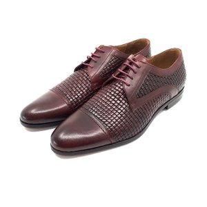 Pantofi barbati eleganti din piele naturala - 524 Visiniu Box
