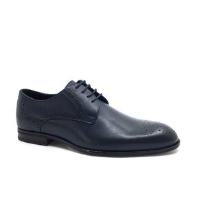 Pantofi barbati eleganti din piele naturala Leofex -512 Blue Box