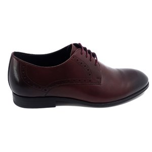 Pantofi barbati eleganti din piele naturala Leofex -512 Visiniu Box
