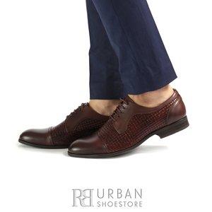 Pantofi barbati eleganti din piele naturala  Leofex- 525 Mogano Box