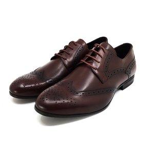 Pantofi barbati eleganti din piele naturala Leofex- 538-2 Visiniu Box