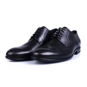 Pantofi barbati eleganti din piele naturala Leofex-573 Negru Box