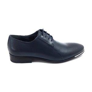 Pantofi barbati eleganti din piele naturala Leofex- 743 Blue Box