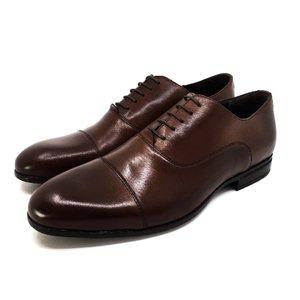 Pantofi barbati eleganti din piele naturala Leofex-890-1 Cognac Box