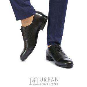 Pantofi barbati eleganti din piele naturala Leofex- 890 Negru