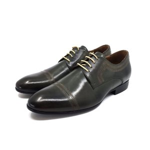 Pantofi barbati  eleganti din piele naturala Leofex- 896 Verde Box