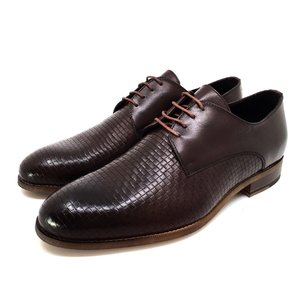 Pantofi barbati eleganti din piele naturala Leofex- 897-1 Maro Box Presat