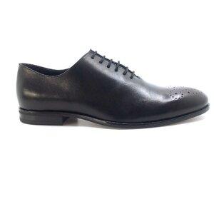 Pantofi barbati eleganti din piele naturala Leofex- 898-2 Negru Box