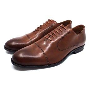 Pantofi barbati eleganti din piele naturala Leofex- 934  Cognac
