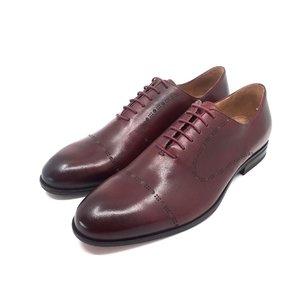 Pantofi barbati eleganti din piele naturala Leofex- 934 Visiniu Box
