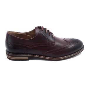 Pantofi barbati eleganti din piele naturala Leofex -979 Maro-Visiniu Box