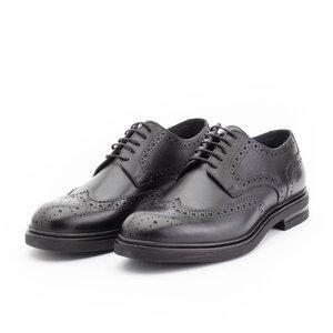 Pantofi barbati eleganti din piele naturala, Leofex- 996 Negru Box
