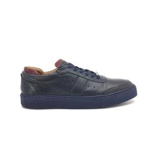 Pantofi barbati sport din piele naturala Leofex - 523-1 Blue Box
