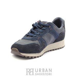 Pantofi barbati sport din piele naturala si piele ecologica Wrangler- 182120 Navy