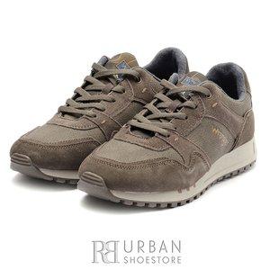 Pantofi barbati sport din piele naturala si piele ecologica Wrangler- 182120 Taupe