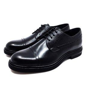Pantofi casual barbati din piele naturala, Leofex - 1000 Negru Box