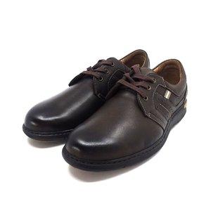 Pantofi casual barbati din piele naturala Leofex - 521 Maro Box