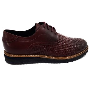 Pantofi casual barbati din piele naturala Leofex -584-1 Visiniu Box