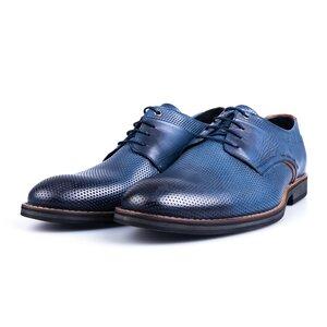 Pantofi casual barbati din piele naturala Leofex - 592 Blue Box