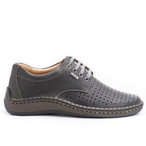 Pantofi casual barbati din piele naturala,Leofex-594 Antracit Box