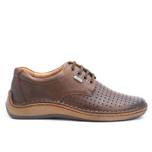 Pantofi casual barbati din piele naturala,Leofex-594 Red Wood Box