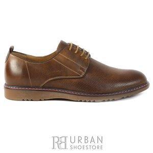 Pantofi casual barbati din piele naturala, Leofex - 839 cognac box