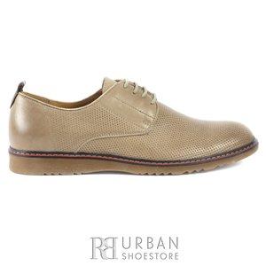 Pantofi casual barbati din piele naturala, Leofex - 839 taupe box