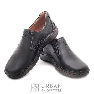 Pantofi casual barbati din piele naturala, Leofex - 919 negru box