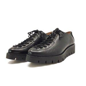 Pantofi casual dama cu siret pana in varf din piele naturala,Leofex - 194 negru box+velur