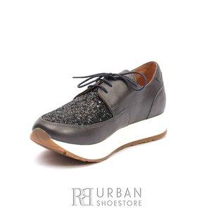 Pantofi casual dama din piele naturala - 102 Bronz Box Sintetic