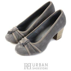 Pantofi casual  dama din piele naturala - 476 gri B velur