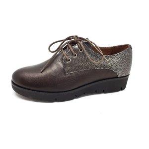 Pantofi casual dama din piele naturala Leofex- 200 Gri Antracit Box