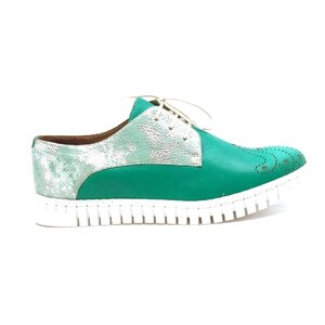Pantofi casual dama din piele naturala,Leofex - 236 verde box