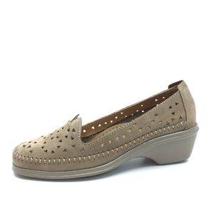 Pantofi casual de piele naturala - B9366 Capuccino Nabuc