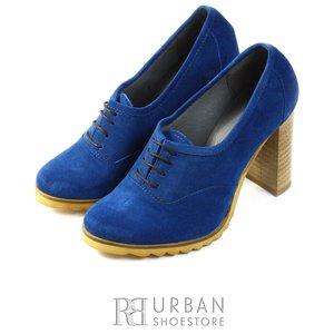 Pantofi casual din piele intoarsa - 1001 albastru