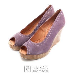 Pantofi cu platforma din piele intoarsa Leofex - 531 mov