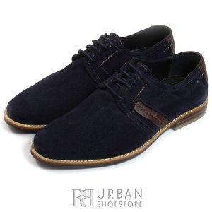 Pantofi casual din piele intoarsa - 741 blue