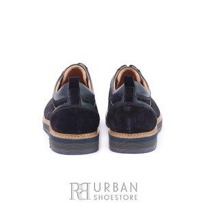 Pantofi casual din piele intoarsa - 969 Blue Velur