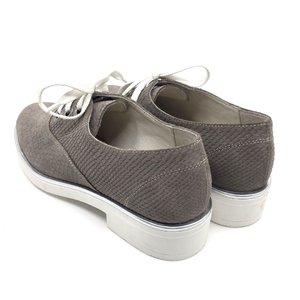 Pantofi Casual din Piele intoarsa- Mostra Gri Velur