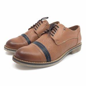 Pantofi casual din piele naturala - 012 Maro - Blue