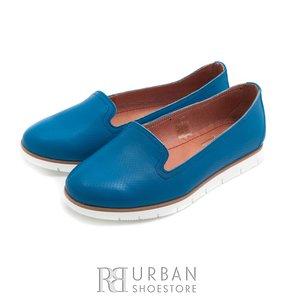 Pantofi casual din piele naturala - 024-B15 albastru