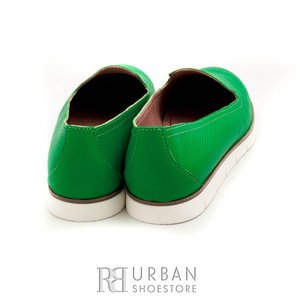 Pantofi casual din piele naturala - 024-B54 verde