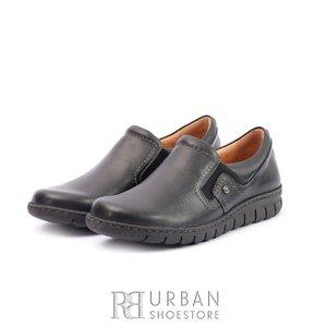 Pantofi casual din piele naturala -  093 Negru Box