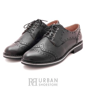 Pantofi casual din piele naturala - 095 negru box