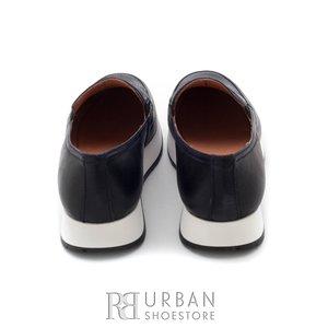 Pantofi casual din piele naturala - 100 albastru