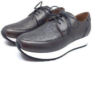 Pantofi casual din piele naturala - 102 Bronz Serigrafiat