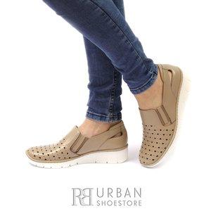 Pantofi Casual din piele naturala- 107 Taupe Box