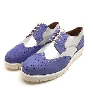Pantofi casual din piele naturala - 173 Mov Argintiu