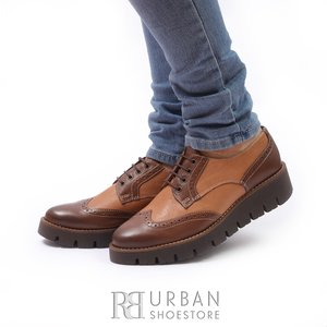 Pantofi casual din piele naturala - 180 maro-camel